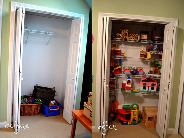 PR before and after closet