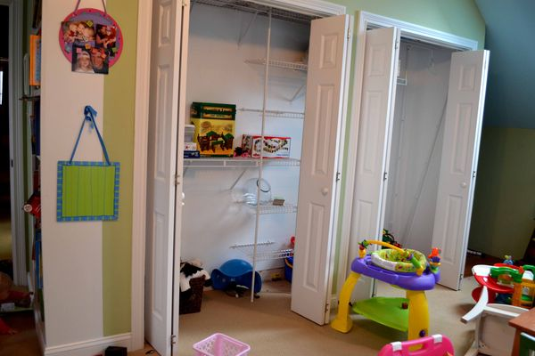 PR closet before