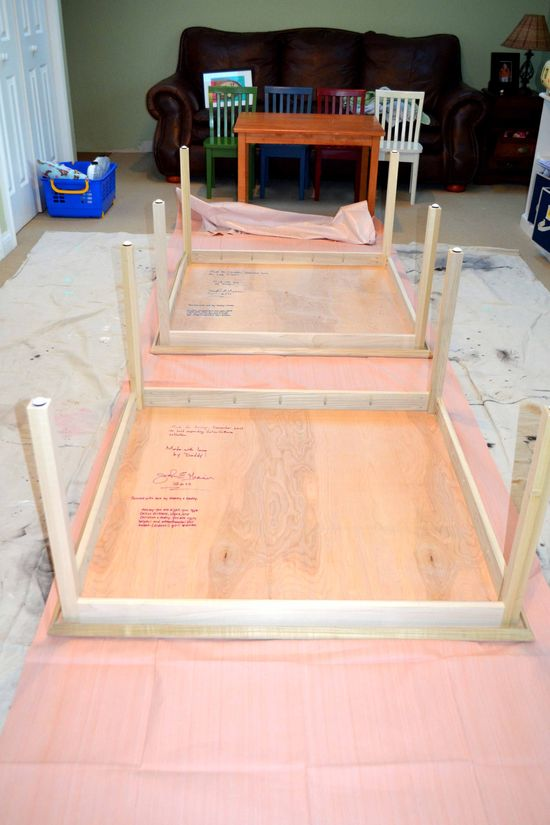 PR tables to stain