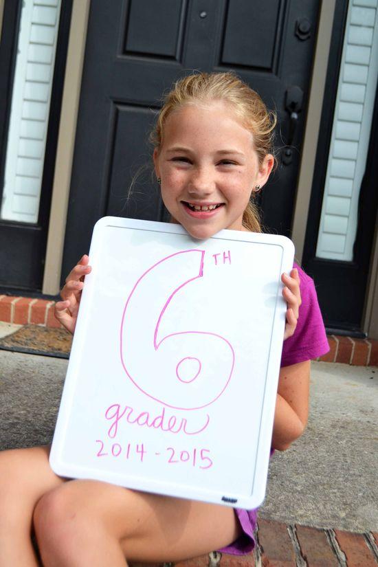 A 1st day 6th grade