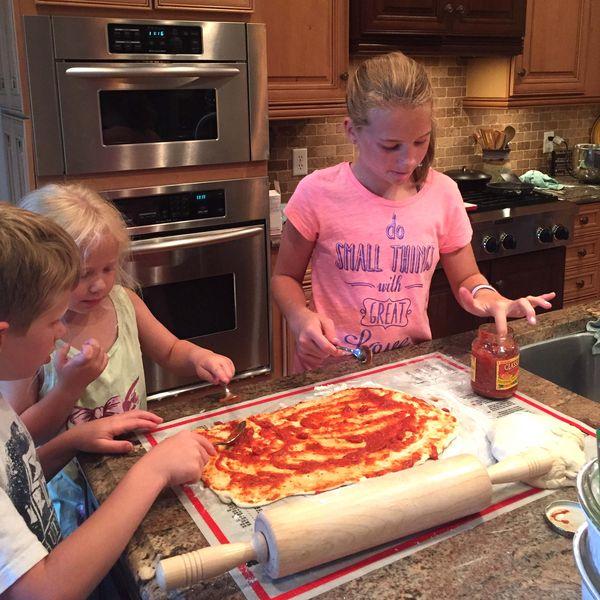 A pizza rolls