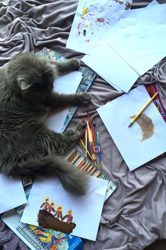 Painting with moky