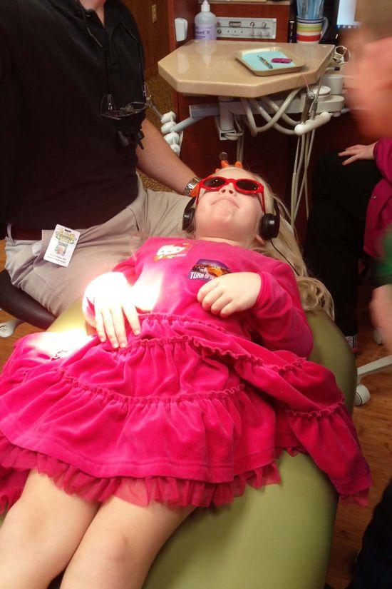 Avery at dentist